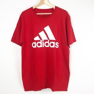 adidas Men's Tee T-shirt Red Size Large